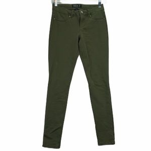 London small army green cotton jeans
